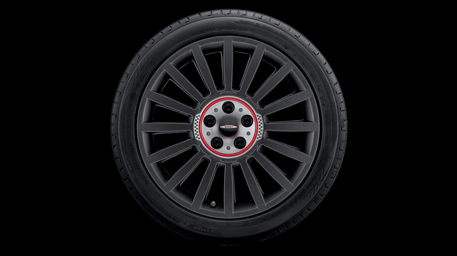 "19"" JCW Rally Spoke, Style 536, Orbit Grey."