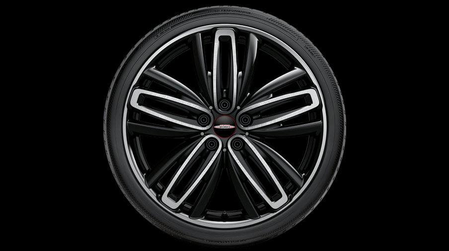"19"" RADIAL SPOKE 526, BLACK, HIGH-GLOSS TURNED."