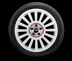 "19"" JCW Rally Spoke, Style 536, Aspen White"
