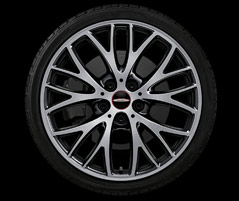 "18"" CROSS SPOKE 506, JET BLACK, HIGH-GLOSS TURNED"