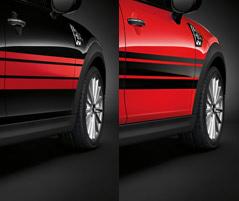 SIDE STRIPES, RED/BLACK