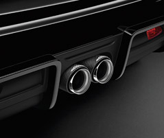 EXHAUST TAILPIPE FINISHER, CARBON FIBRE*