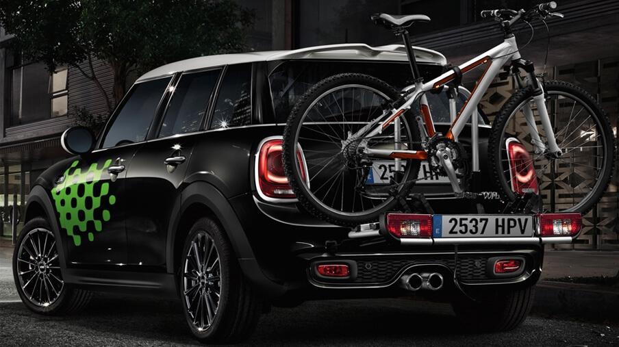 MINI Rear Bike rack.<br /> MSRP $900.00
