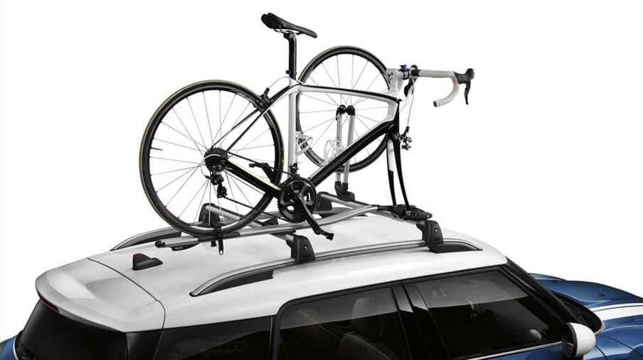 Support de roue avant pour porte-vélos de course MINI.<br /> PDSF 115,00 $