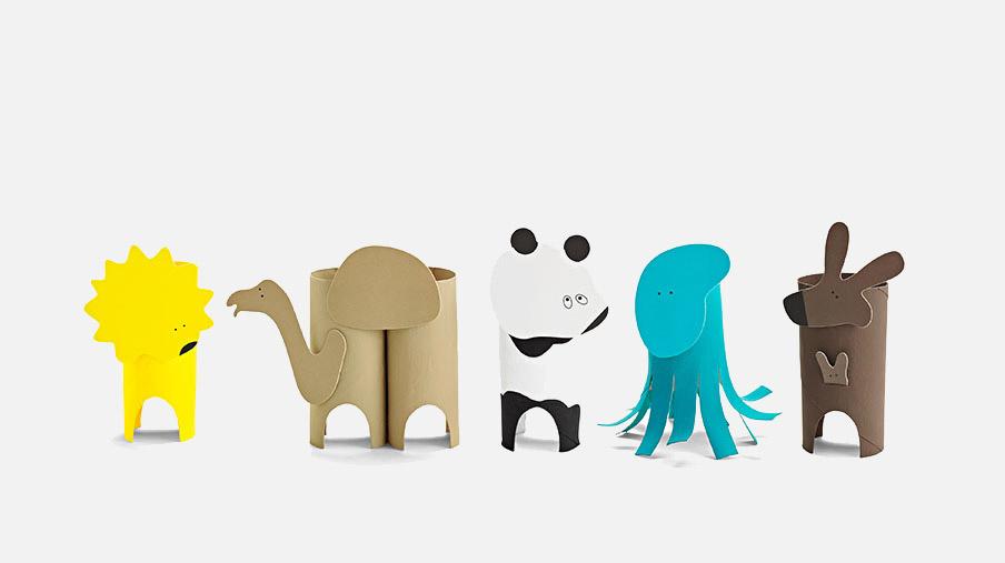 MINI KIDS CRAFT SET, ANIMALS.<br /> MSRP $14.75