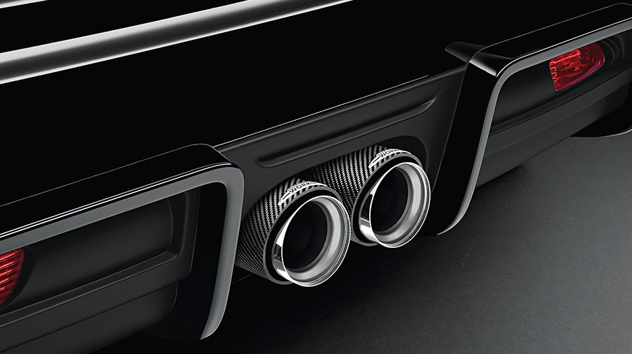 JCW PRO EXHAUST PIPE FINISHER - CARBON FIBRE.<br/> MSRP $338.65