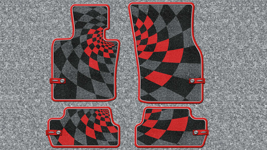 JCW PRO TEXTILE FLOOR MATS (FRONT AND REAR).<br />