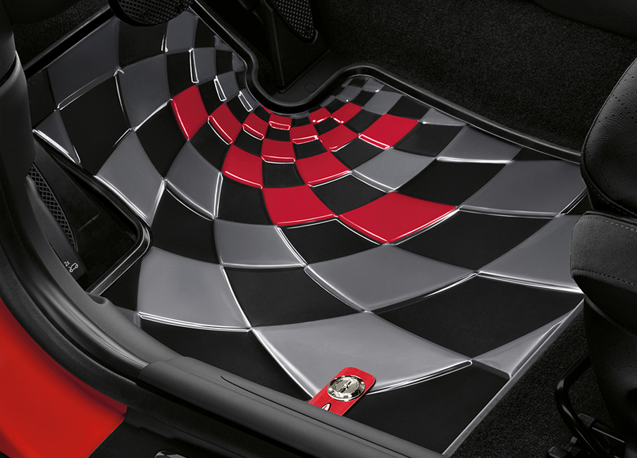 JCW ALL-WEATHER FLOORMATS.